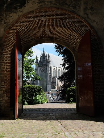 A church through the gate