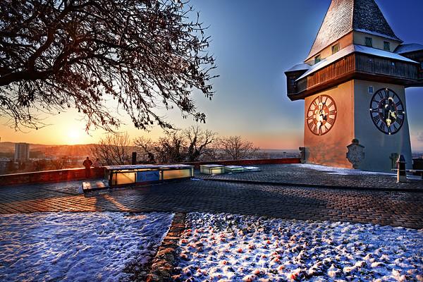 Sonnenaufgang am Schlossberg