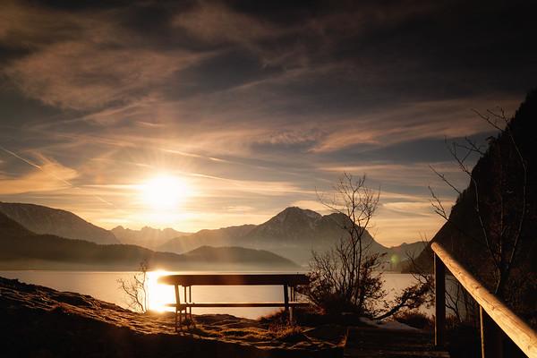 Sonnenuntergang am Altausseer See