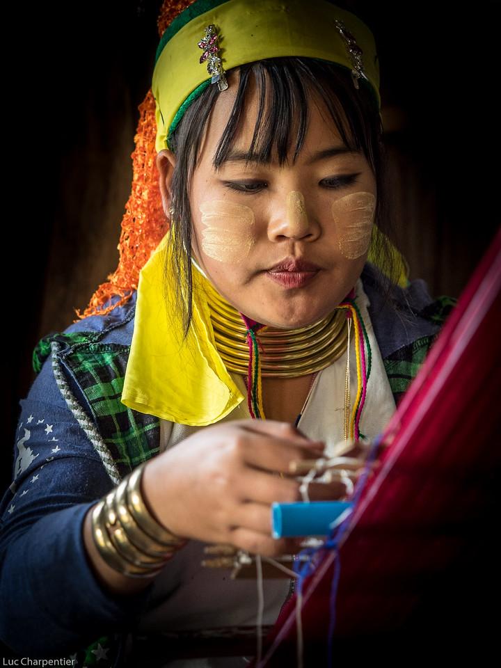 Karen Woman Weaving
