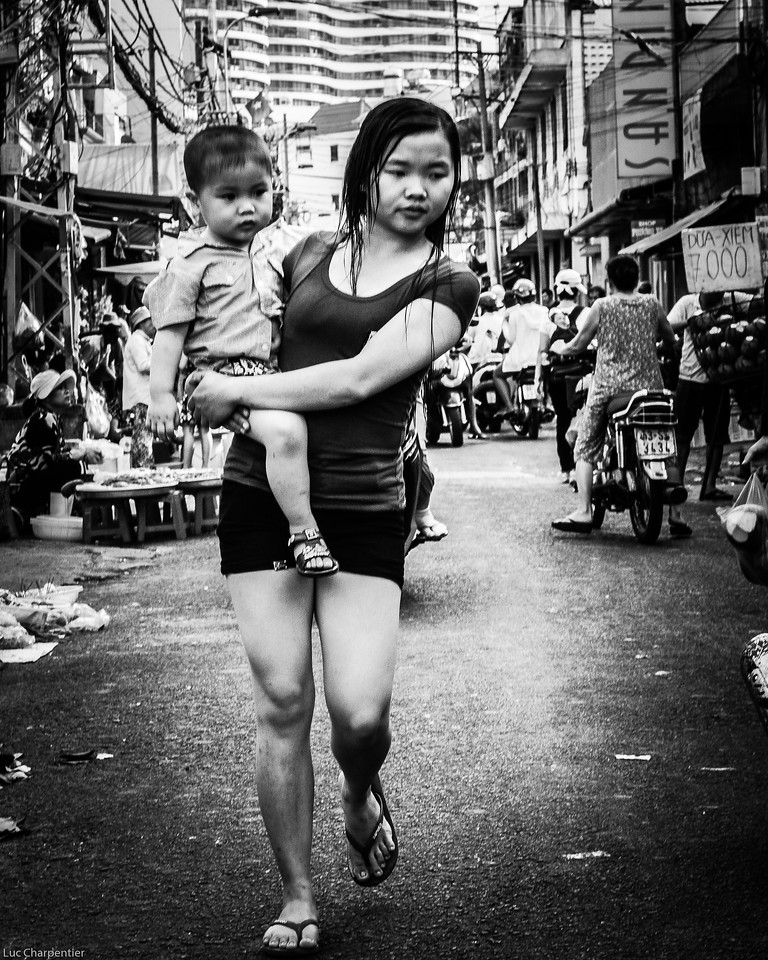 Mother and Child at the Market