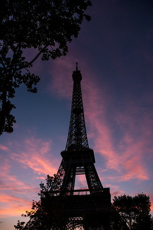 Eiffel Tower Silhouette