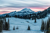 Mount Rainier sunset, from Chinook Pass