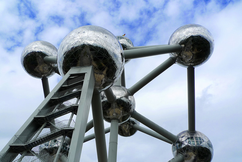 """""""Atome"""" atom replica, built for the 1958 World Exposition in Brussels."""