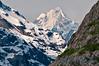 Fairweather peak peeking through, Glacier Bay, Alaska