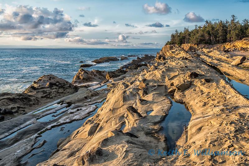 Sandstone pools by the ocean