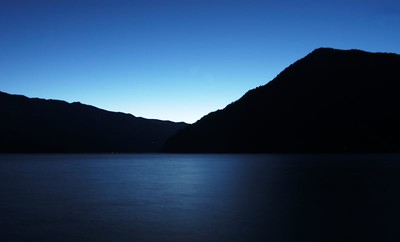 #4626 - Lake Crescent at Nightfall