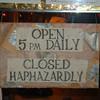 closed haphazardly