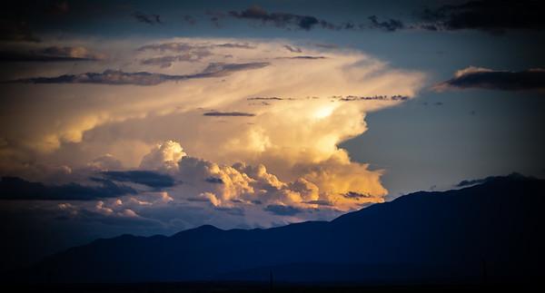 Sunset over the Sangre De Cristo mountains, southern Colorado