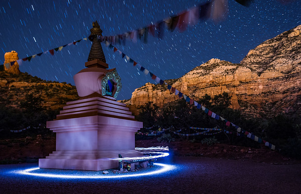 Light Painting with the Buddha