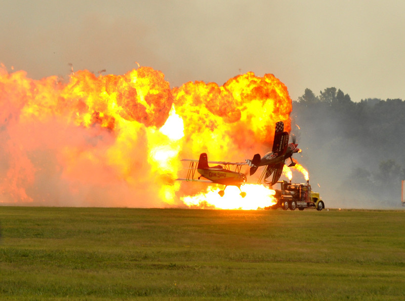 planes and pyrotechnics. Millington