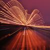 zoom effect. Hernando DeSoto Bridge.