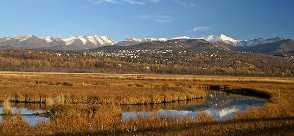 Potters Marsh, Anchorage, Alaska. October 16, 2005