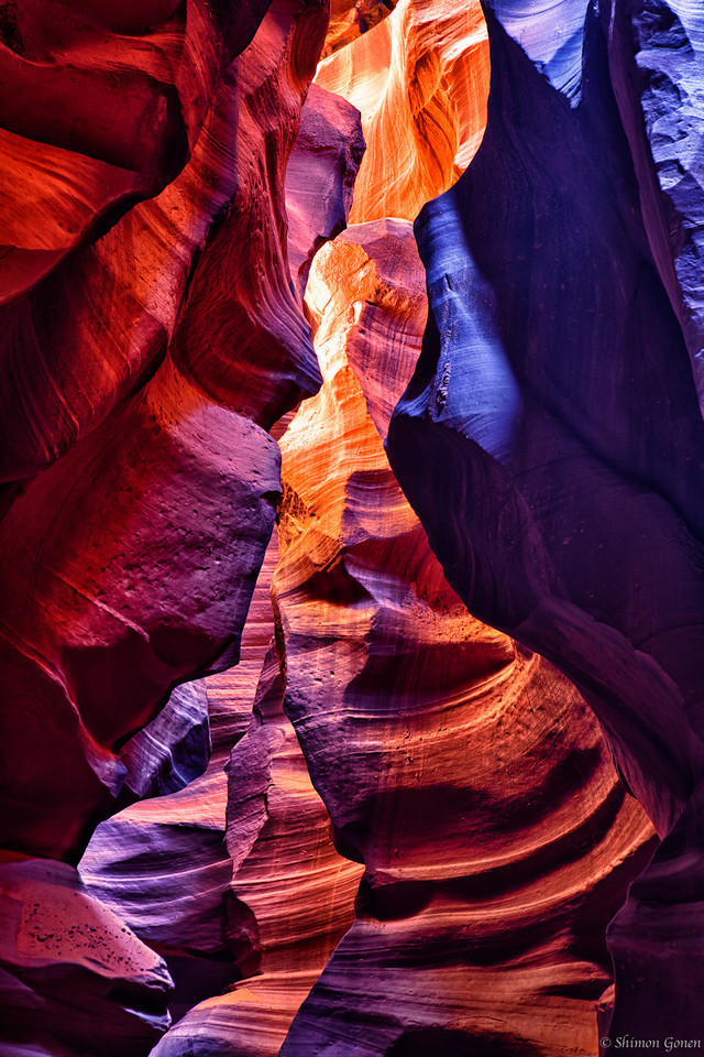 Painted, Upper Antelope Canyon - Page, Arizona