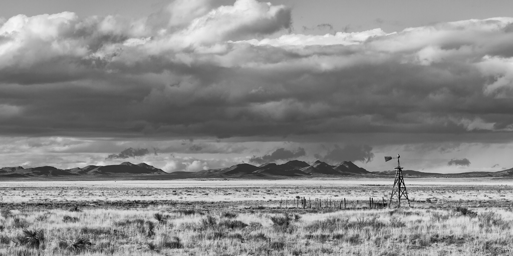 Open land after a storm - New Mexico