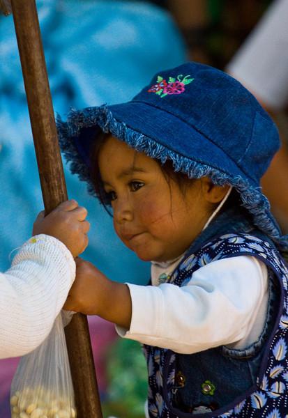 Girl in Pisac Market - Peru