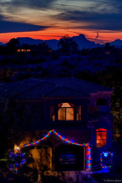 Christmas Sunset - Tucson, Arizona