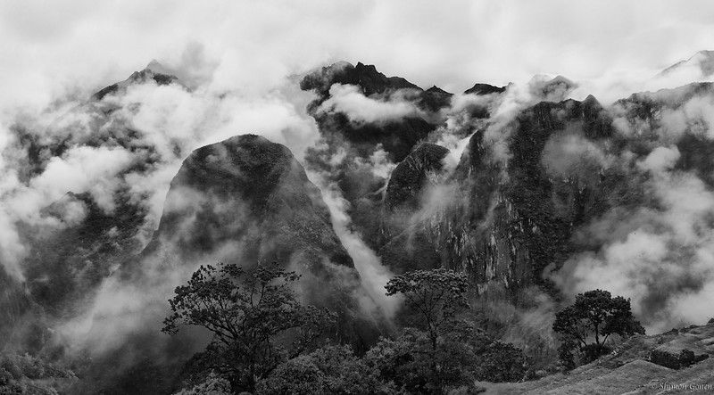 Early morning clouds - Machu Picchu Mountains, Peru