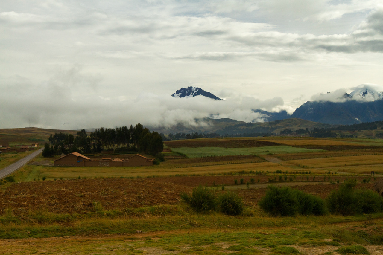 On the way to Sacred Valley and Machu Picchu through the Andes