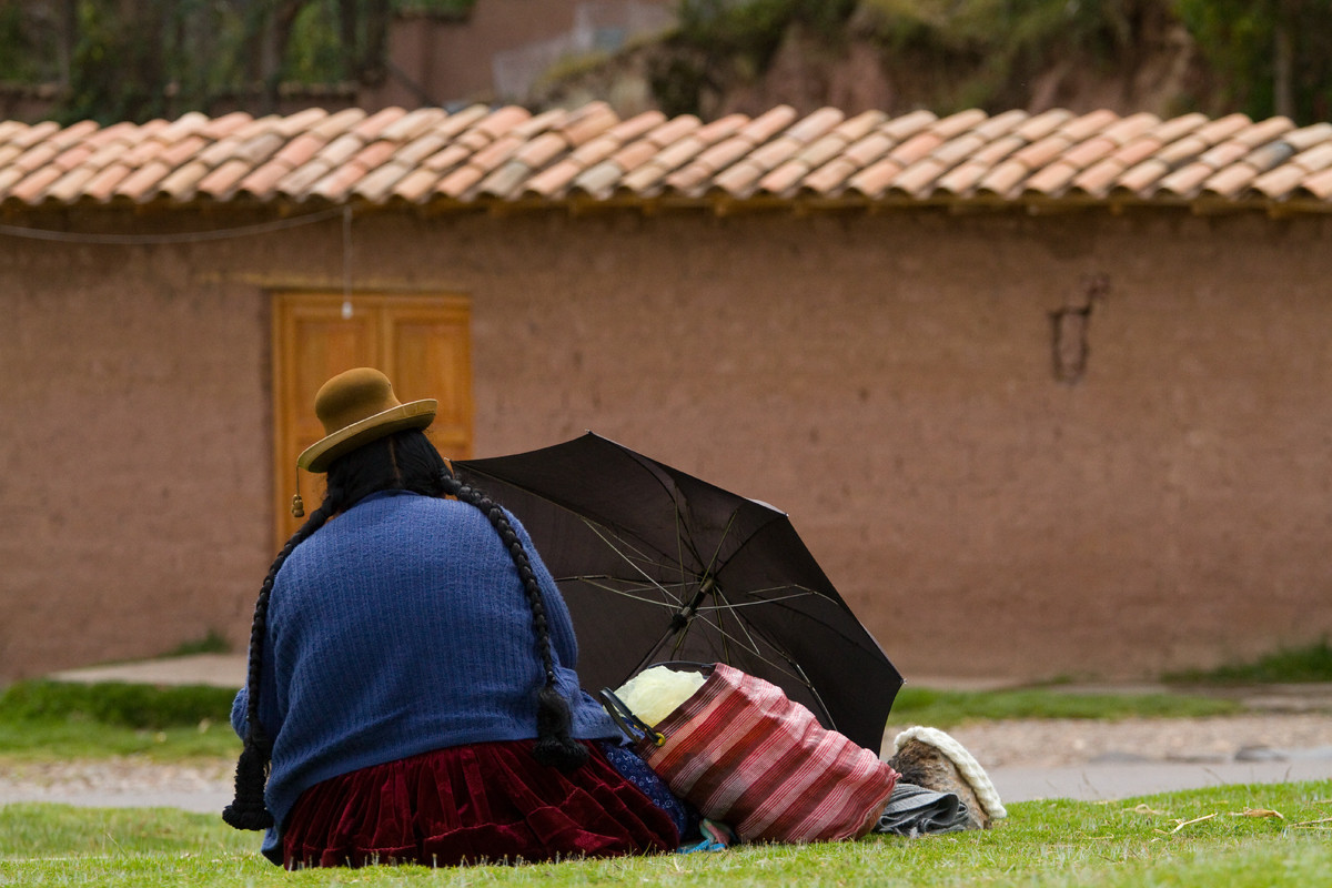 Taking a quick break - Cusco, Peru