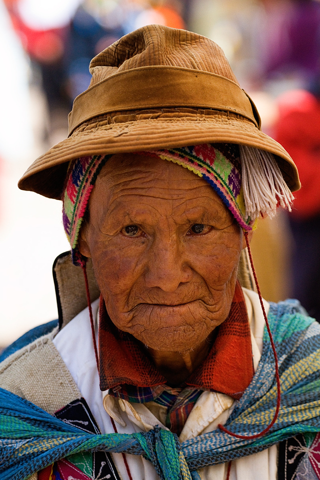 Beautiful Lady at the Pisac market, Peru