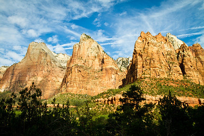 Zion National Park. Court of the Patriarchs.
