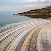 "The ""Salt Rainbow"" beach on the shores of the Dead Sea...Israel"