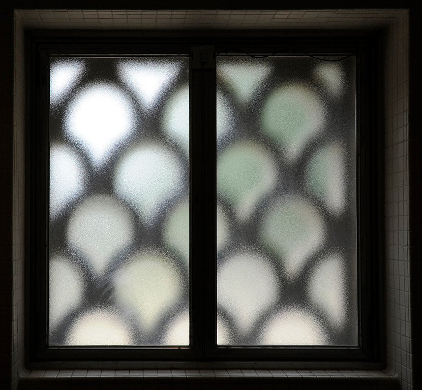 Bathroom window in the Smithsonian National gallery of Art West Building