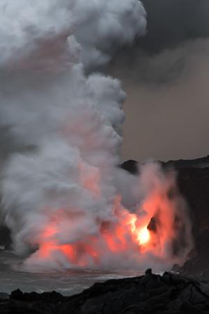 2017-01 Lava Ocean Entry
