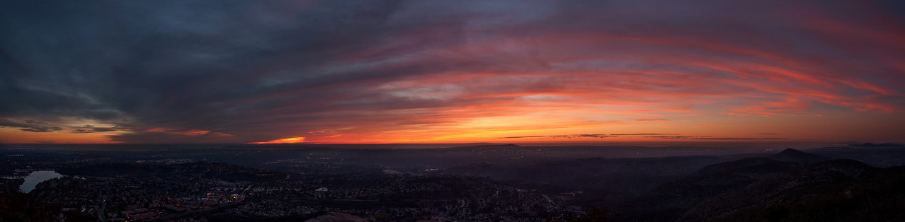 2013-11 Cowles Mountain Sunset
