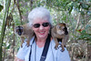 Sherri and the<br /> Brown Lemur<br /> ( Eulemur fulvus fulvus)