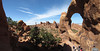 The view from the backside of Double O Arch, Arches National Park.