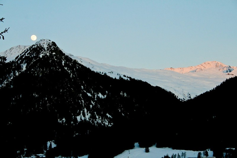 Moonrise over Davos. Switzerland 2008.