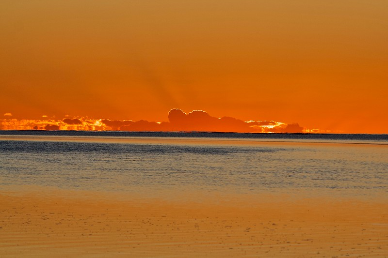 Sunset from Heron Island, Australia 2006.