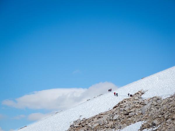 Snow Crossing on Mount Whitney