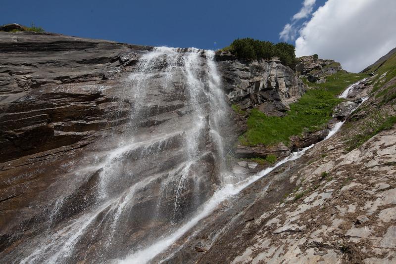 Waterfall on Grossglockner Hochalpenstrasse