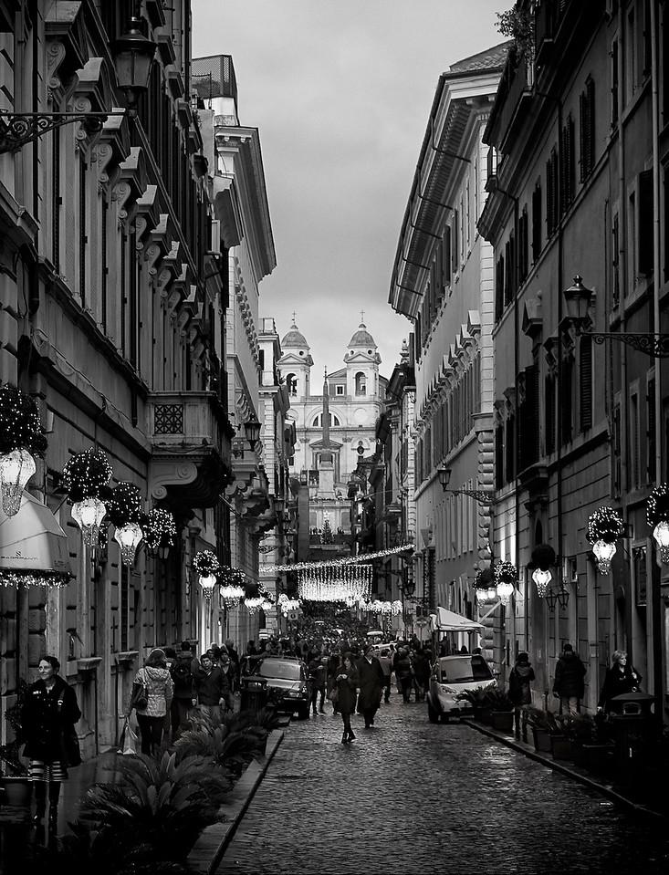 Via  Condotti<br /> Rome<br /> 2014