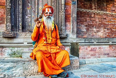 Holy Man known as Sadhus in the Kathmandu Durbar Square