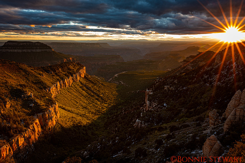 Sunset at Locust Point on the North Rim of the Grand Canyon