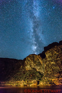 The Milky Way at the bottom of the Grand Canyon