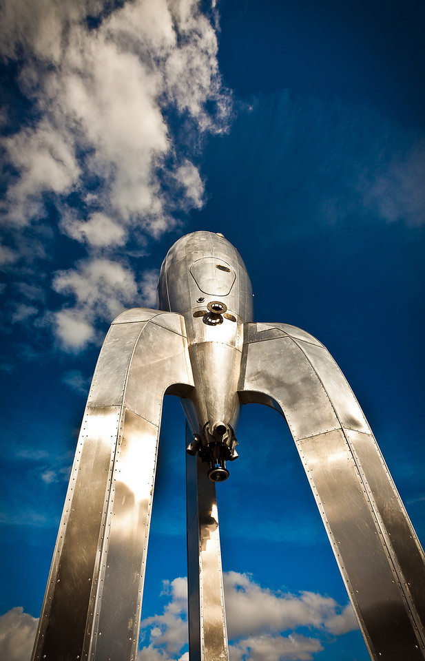 Rocket sculpture, San Francisco.