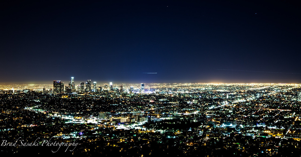 Skyline of Los Angeles.