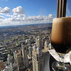 A Guinness and a view, from the top of the Hancock tower.