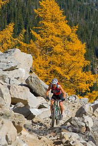 High elevation fall ride in the North Cascades, Washington