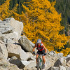 High elevation fall ride in the North Cascades, Washington