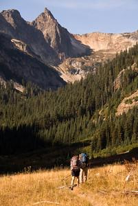 Approaching Spider Gap, Central Cascades, Washington