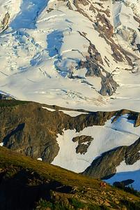 Hikers on Chowder Ridge, Mt Baker, Washington