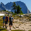 Hikers on the Alpine Lakes High Route, Central Cascades, Washington