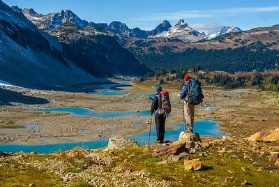 Overlooking Lyman Lakes, Central Cascades, Washington