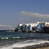 Buildings on the Water, Mykonos Greece